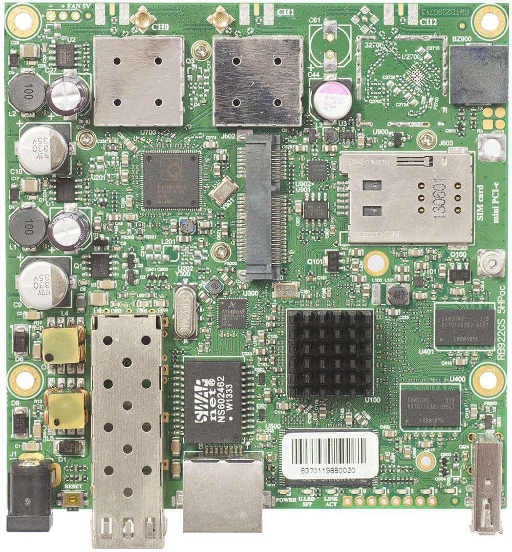 MikroTik RB922UAGS-5HPacD Board