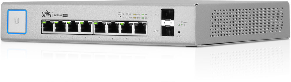 UBNT UniFi Switch 8 Port 150W PoE+ Layer3 Yönetilebilir Switch - US-8-150W
