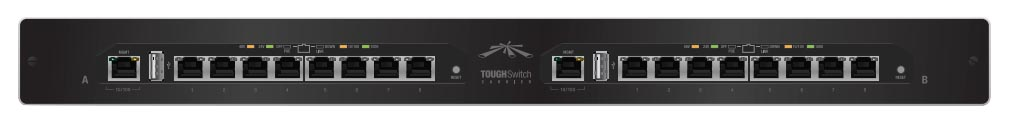 UBNT TS-16-CARRIER - UBNT TOUGHSwitch Carrier 16 Port Gigabit 24/48v PoE Switch